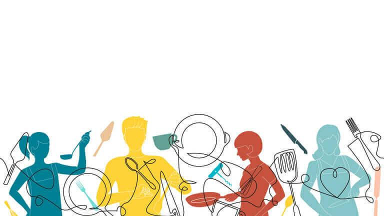 料理の仕込み
