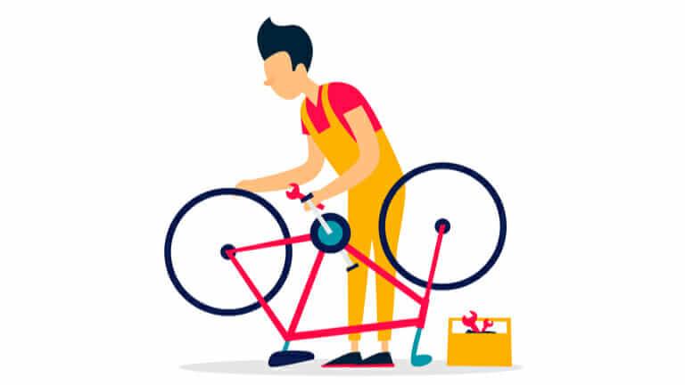 自転車屋の修理