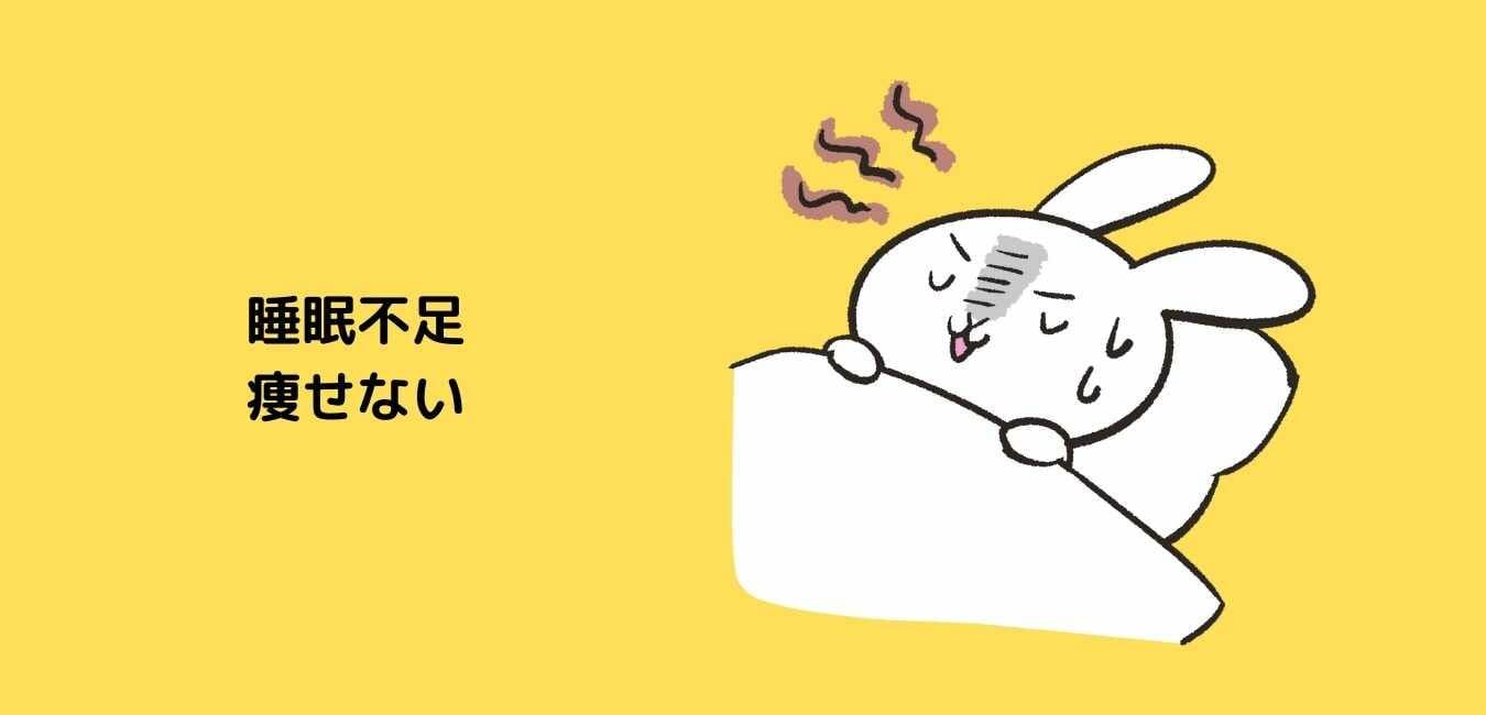 睡眠不足 痩せない